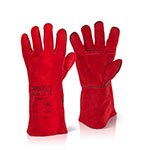 MIG Welding Red Superior Gauntlet Glove